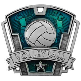 """Hasty Awards 3"""" Varsity Volleyball Medals M-787V"""