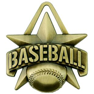 """Hasty Awards 2"""" All-Star Baseball Medals M-790C"""