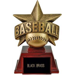 "Hasty Awards 6"" All Star Resin Baseball Trophy"