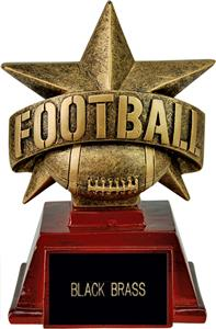 """Hasty Awards 6"""" All Star Resin Football Trophy"""
