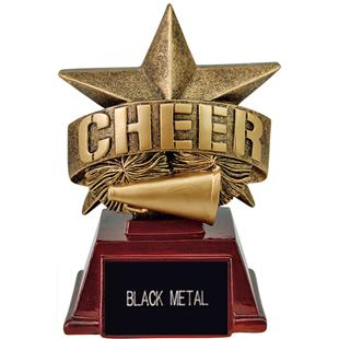 "Hasty Awards 6"" All Star Resin Cheer Trophy"