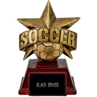 """Hasty Awards 6"""" All Star Resin Soccer Trophy"""