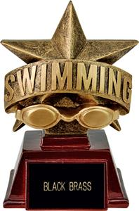 "Hasty Awards 6"" All Star Resin Swimming Trophy"