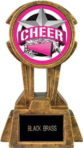 """Hasty Awards 10"""" Sky Tower Resin Cheer Trophy"""