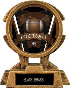 "Hasty Awards 7"" Sky Tower Resin Football Trophy"