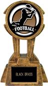 "Hasty Awards 10"" Sky Tower Resin Football Trophy"