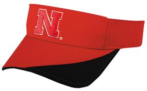 College Replica Nebraska Corn Huskers Visor