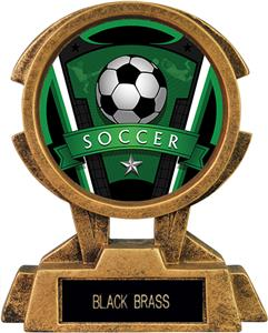 """Hasty Awards 7"""" Sky Tower Resin Soccer Trophy"""