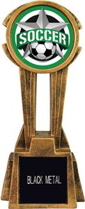 """Hasty Awards 14"""" Sky Tower Resin Soccer Trophy"""