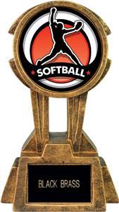 "Hasty Awards 10"" Sky Tower Resin Softball Trophy"