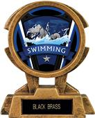 "Hasty Awards 7"" Sky Tower Resin Swimming Trophy"