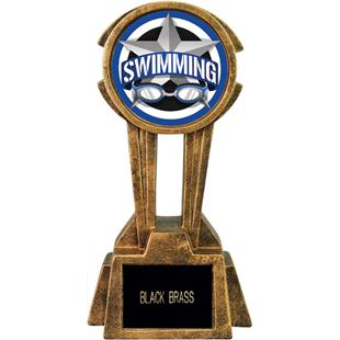 "Hasty Awards 12"" Sky Tower Resin Swimming Trophy"