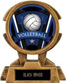 """Hasty Awards 7"""" Sky Tower Resin Volleyball Trophy"""