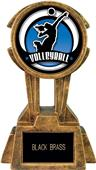 """Hasty Awards 10"""" Sky Tower Resin Volleyball Trophy"""