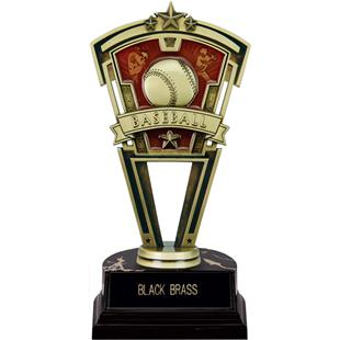 "Hasty Award 7"" Baseball Varsity Trophy Marble Base"