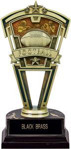 "Hasty Award 7"" Football Varsity Trophy Marble Base"