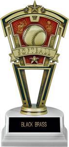 "Hasty Award 7"" Softball Varsity Trophy Marble Base"