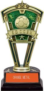 "Hasty Awards 7"" Soccer Varsity Trophy Marble Base"