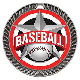 "Hasty Awards 2.5"" All-Star Crest Baseball Medals"