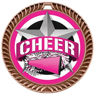 "Hasty Awards 2.5"" All-Star Crest Cheer Medals"