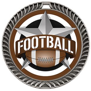 """Hasty Awards 2.5"""" All-Star Crest Football Medals"""
