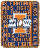 "Northwest NCAA Illinois Double Play 48""x60"" Throw"