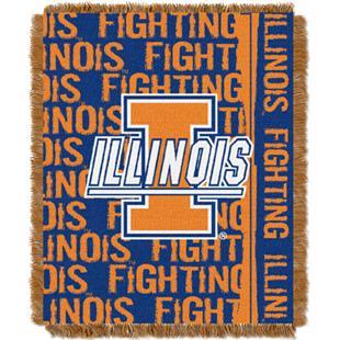 "Northwest NCAA Illinois Double Play 48""x60"" Throw"