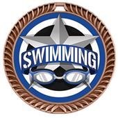 "Hasty Awards 2.5"" All-Star Crest Swimming Medals"
