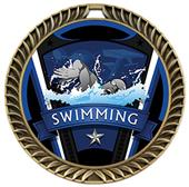 "Hasty Awards 2.5"" Varsity Crest Swimming Medals"