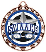 Hasty Award Swimming All-Star Insert Medal M-4401