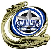 Hasty Swim Action All-Star Insert Medal M-1201W
