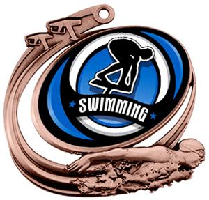 Hasty Swim Action Spectrum Insert Medal M-1201W