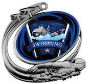 Hasty Swim Action Varsity Insert Medal M-1201W