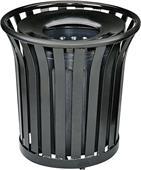 Highland 32-Gal. Steel Strap Receptacle Trash Can