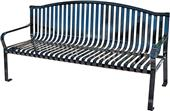 Highland Plaza Arch Bench 6ft Steel Strap W/Back