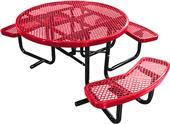 """Highland Expanded 46"""" ADA ROUND Picnic Table"""