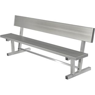 Highland Aluminum Players Portable Bench W/Back