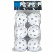 "Markwort 9"" Perforated Plastic Baseballs (6 PK)"