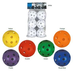 "Markwort 9"" Perforated Plastic Baseballs (6 PK)"