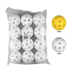 "Markwort 12"" Perforated Plastic Softballs-Pk of 12"