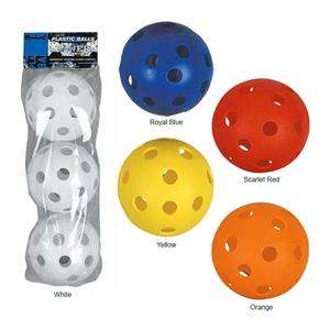 Markwort 12&quot; Perforated Plastic Softballs-Pkg of 3