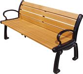 Highland Heritage Recycled Plastic Bench With Back