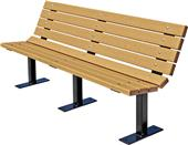 Highland Contour Recycle Plastic Bench Steel Frame