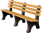 Highland Recycled Plastic Comfort Park Benches