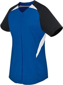 High Five Womens & Girls Galaxy Full Button Jersey