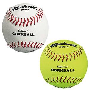 "Markwort Official 6.5"" Corkballs White/Yellow"