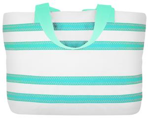 Sailorbags Large Striped Sailcloth Tote Bag