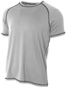 A4 Adult Raglan with Flatlock Stitching T-Shirt