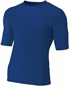 A4 Adult 1/2 Sleeve Compression Crew T-Shirt