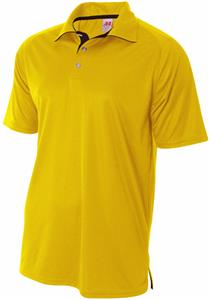 A4 Adult Polyester Interlock Contrast Polo Shirt